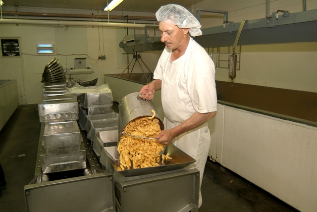 Loading Curds into Molds